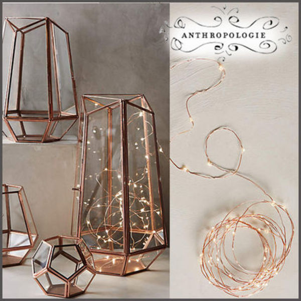 SALE数量限定★国内発★Anthropologie★Copper String ライト S