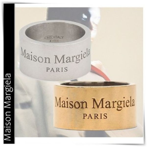 【Maison Margiela】Band ring with logo/指輪  silver gold