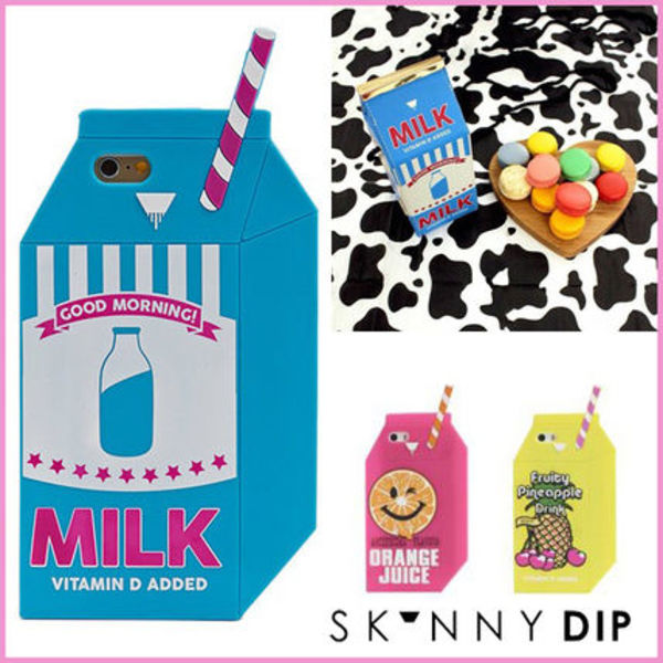 SKINNYDIP☆iPhone6 iPhone5s/5 ドリンク 牛乳パック MILK