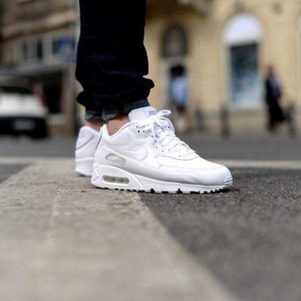 大人気☆Nike Air Max 90 Leather All White☆国内発送☆