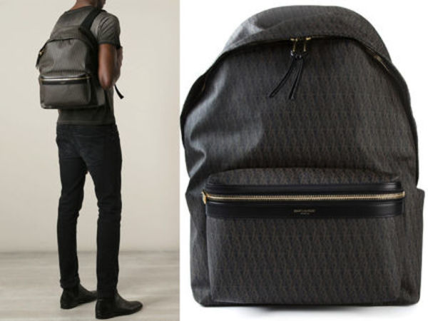 15SS SLP196 SAINT LAURENT CLASSIC HUNTER MONOGRAM BACKPACK