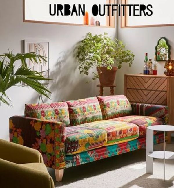 Urban Outfitters【世界に一つ】Kanthaパッチワークソファー