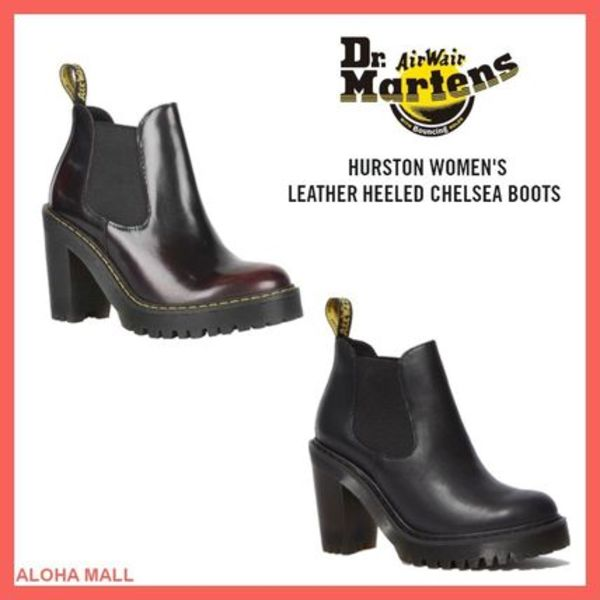 【Dr.Martens】HURSTON WOMEN'S LEATHER HEELED CHELSEA BOOTS♪