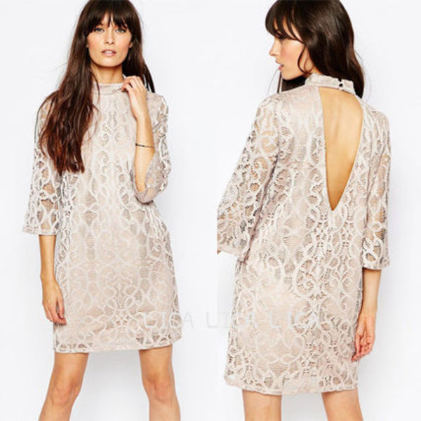 送料無料・国内発送ASOS/Vero Moda High Neck Lace Dress