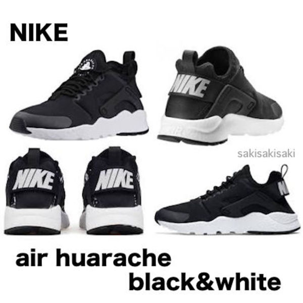 SALE!!NIKE air huarache ultra trainers black&whiteエアハラチ