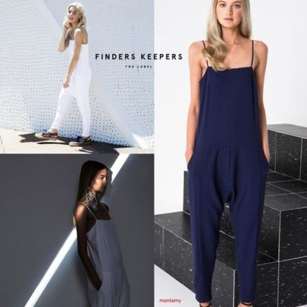 "Finders Keepers"" ストレートネックジャンプスーツ2色"