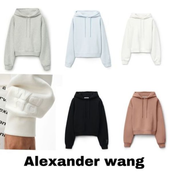 【Alexander Wang】Foundation Terry Hoodie ロゴパーカー