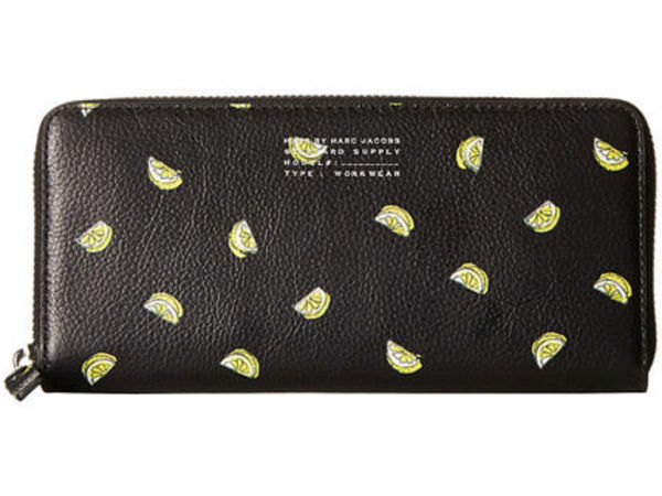 Fruit Slim Zip Around Walletレモン