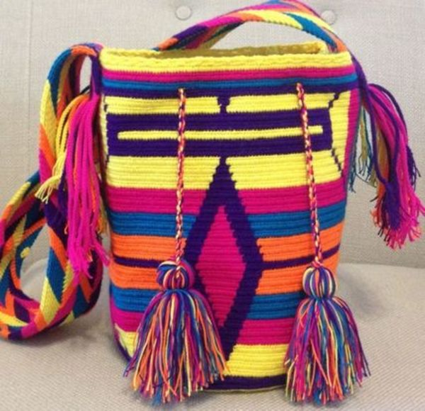 日本未入荷大人気wayuu mochila-Large Authentic Wayuu Bag 大