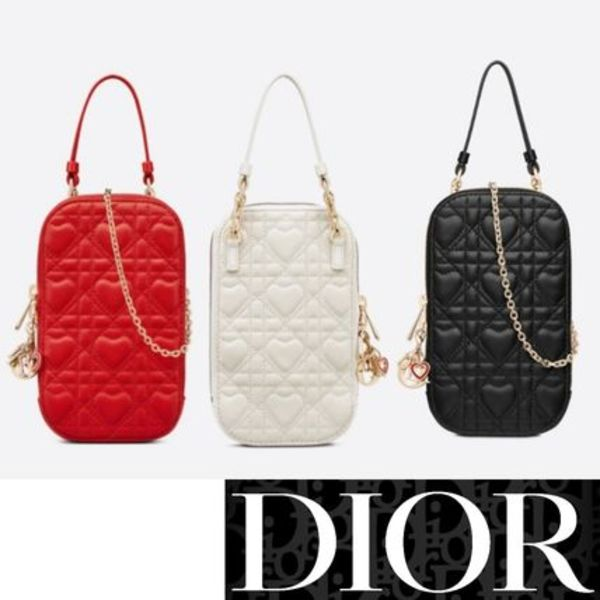 【DIOR】21AW DIORAMOUR LADY DIOR PHONE HOLDER