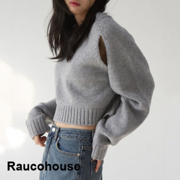 Raucohouse Large Deep Point Wool Knit