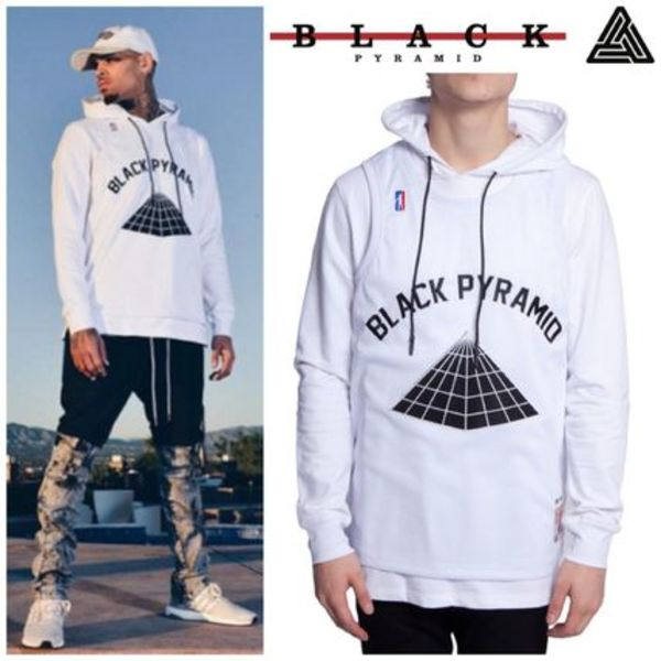 【Chris Brown愛用】☆入手困難品☆Layered BP Hoodie White