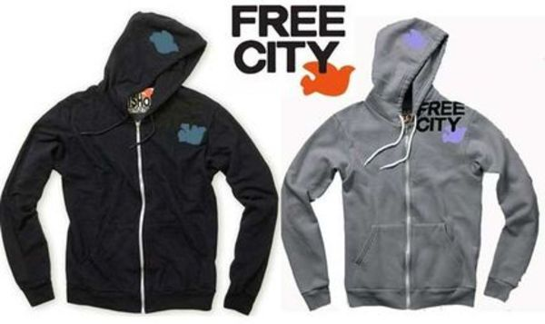 FREE CITY × アメリカンアパレル パーカー LARGE SOLID AA ZIP