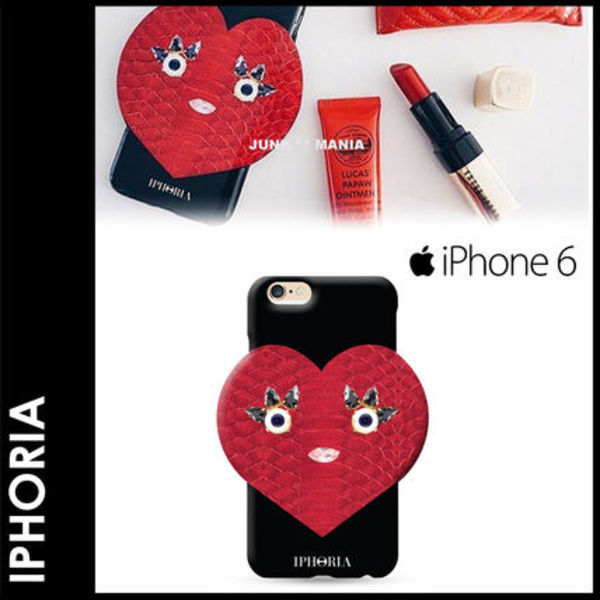 ★【関税返金・IPHORIA】iPhone6&6S/Heart Breaker Black