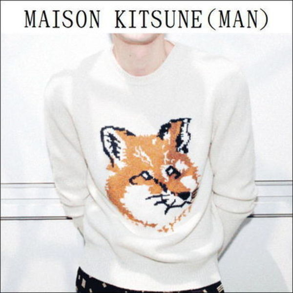 【国内送】★MAISON KITSUNE★15AW★FOX HEAD・ウールニット
