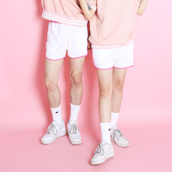 [Fresh Fruit][DHL安心発送]WHITE + PINK TRAINING PANTS パンツ