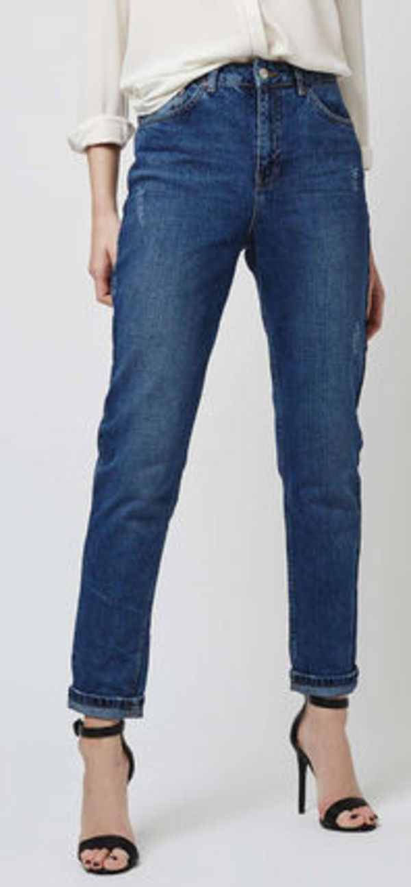 TOPSHOP  Dark Blue Mom Jeans