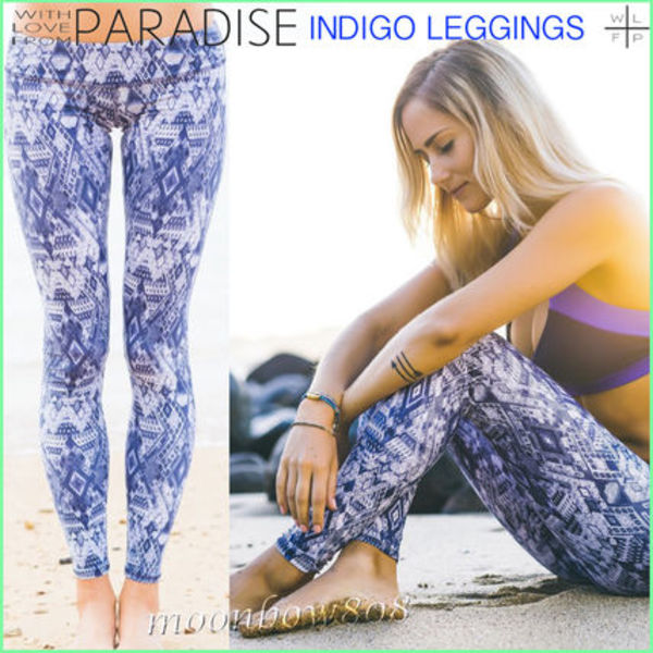 【日本未入荷】WITH LOVE FROM PARADISE INDIGO LEGGINGS