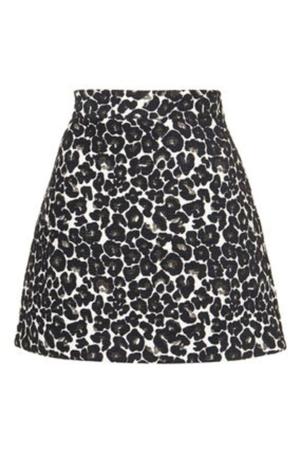 《レオパードミニ♪》☆TOPSHOP☆Jaquard Animal A-Line Skirt