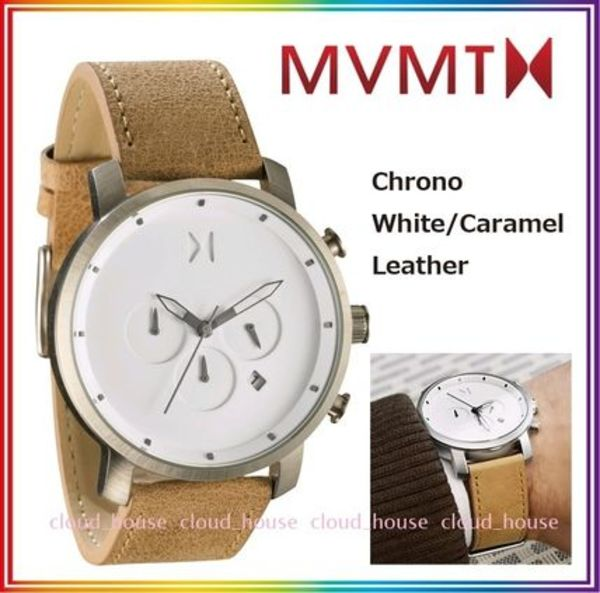 日本未入荷☆MVMT Watches◇Chrono White/Caramel Leather送料込