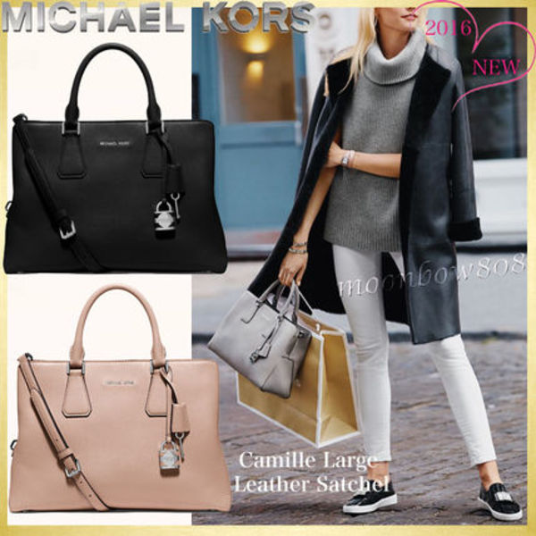 【日本未入荷☆新作】Michael Kors Camille Large Satchel 3色