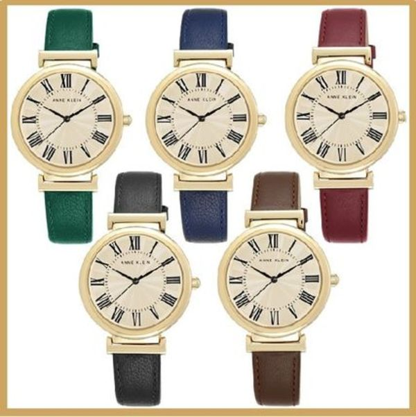 アンクライン  Women's Leather Strap Watch 38mm
