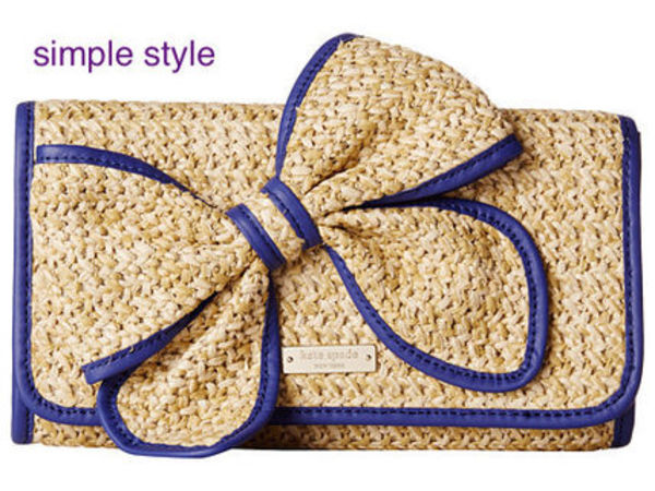 kate spade☆お花モチーフストローバックBelle Place Straw Viv