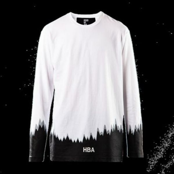 Hood By Air Long Sleeve Bottom Graph (White)