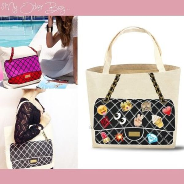 【My Other Bag】新作/送込★キュートなエコトートJackie/emoji