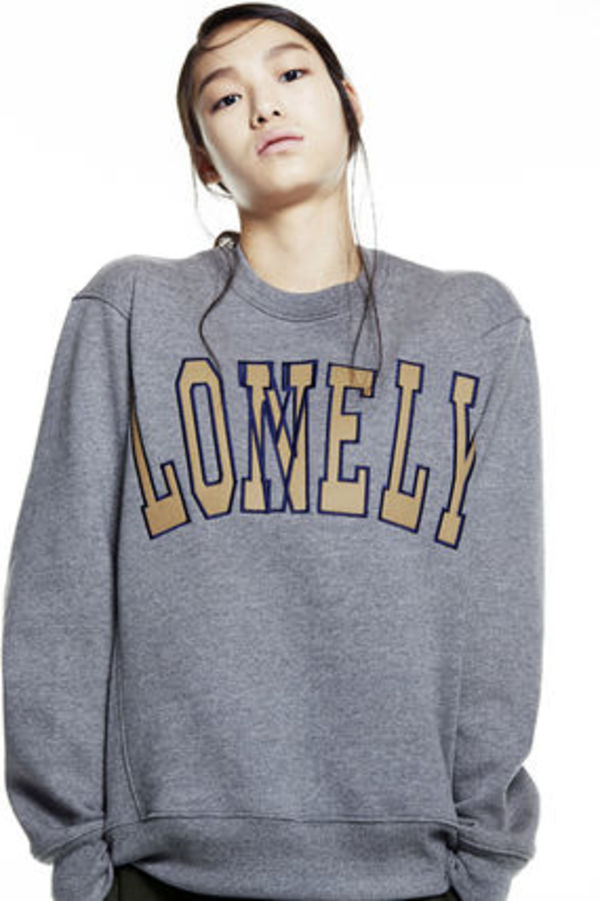[NOHANT正規品]LONELY LOVELY SWEATSHIRTS GRAY