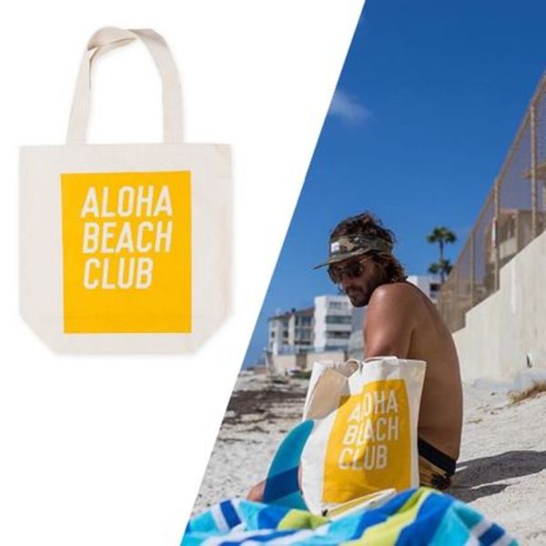 【ALOHA BEACH CLUB - SUNSHINE - TOTE】Made in the USA