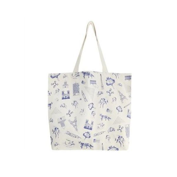 新作【パリで購入】MAISON KITSUNE♡ALL-OVER MAP TOTE BAG