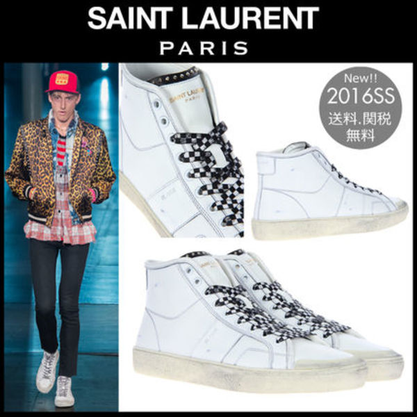 関税・送込/16SS Saint Laurent▼COURT CLASSIC ユーズド加工