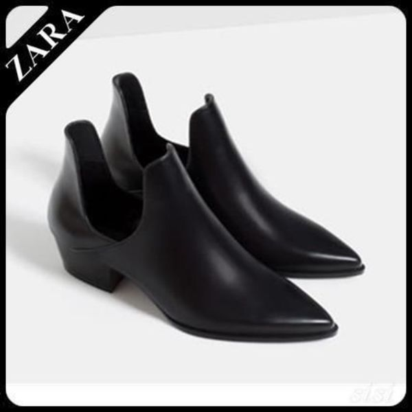 ♪ZARA♪ザラ  OPEN ANKLE BOOTS WITH HEEL