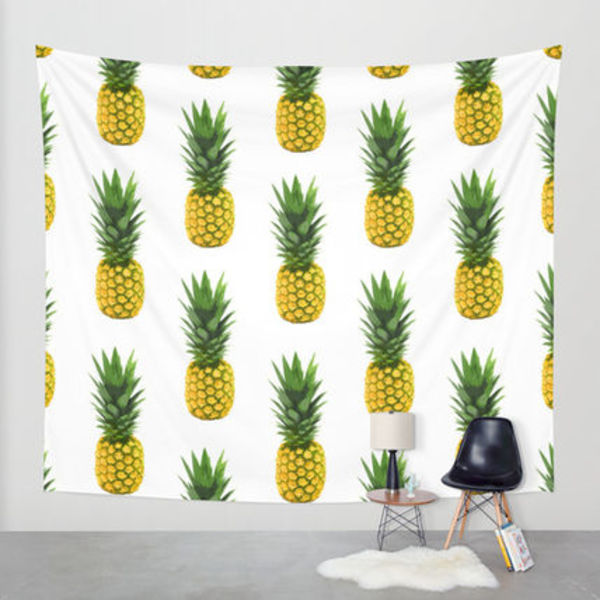 Society6◆タペストリー◆Pineapple Pattern by Chris Klemens
