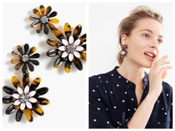 J Crew-DAISY TORTOISE EARRINGS  関税・送料込