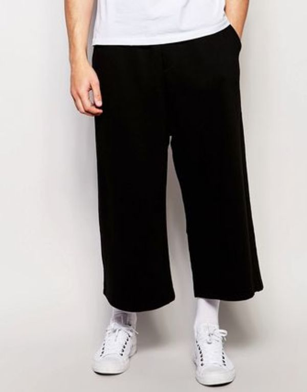 ♪☆イギリス大人気!/♪☆ASOS Wide Leg Joggers In Cropped Le