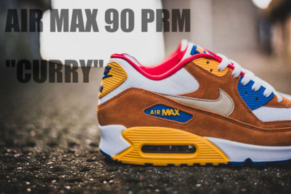 "★海外限定・UNISEX★[NIKE]AIR MAX 90 PRM ""CURRY""【送料込】"
