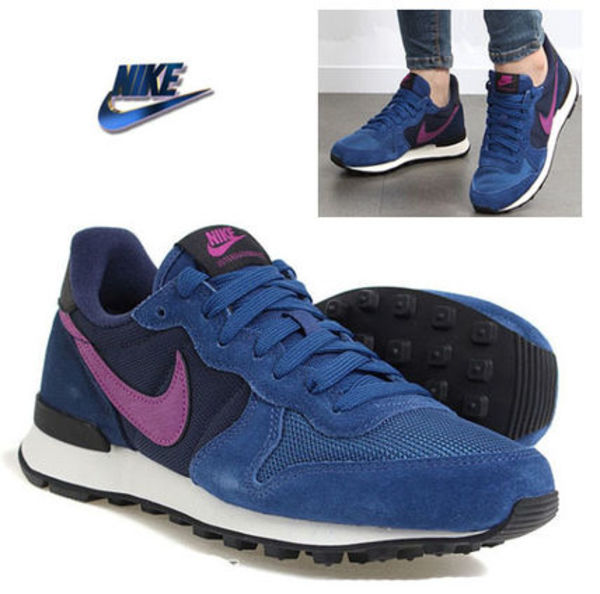 ★NIKE.正規品 INTERNATIONALIST-Navy/Purple-レディース★