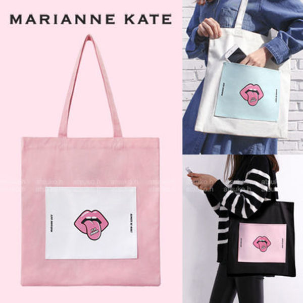 MArianne kate♪ リップモチーフ エコバッグ(3color)