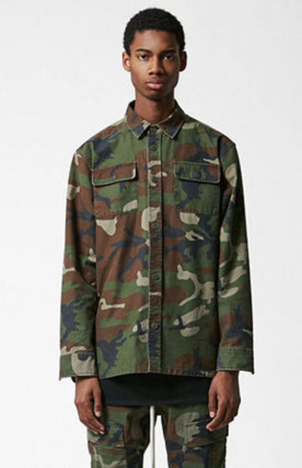 SS16 FOG FEAR OF GOD CAMOUFLAGE SHACKET CAMO カモ 送料無料