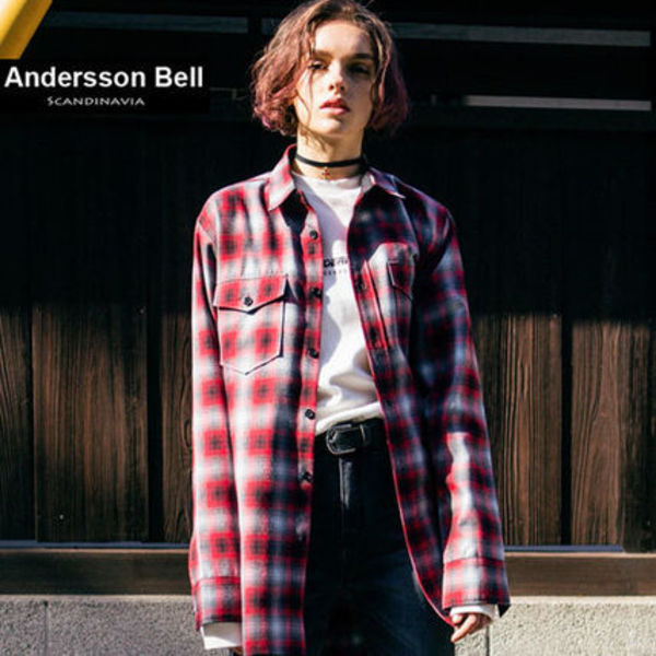 ANDERSSON BELL正規品★16SS新作★Zip Check シャツ★UNISEX
