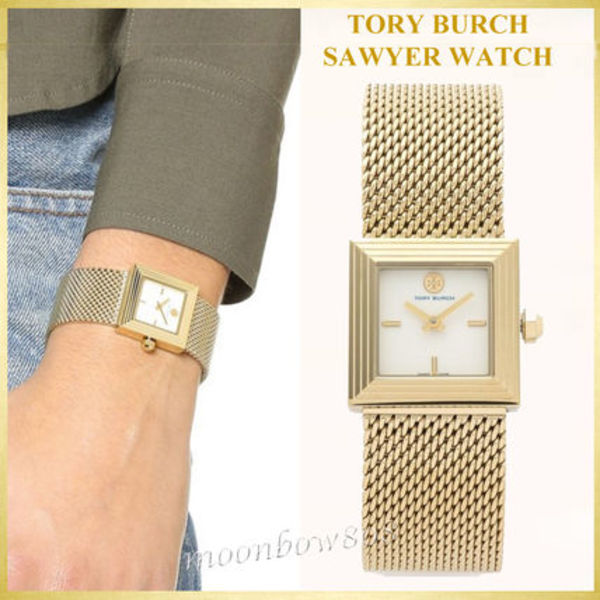 【日本未入荷☆新作】Tory Burch SAWYER MESH / ETCHED WATCH