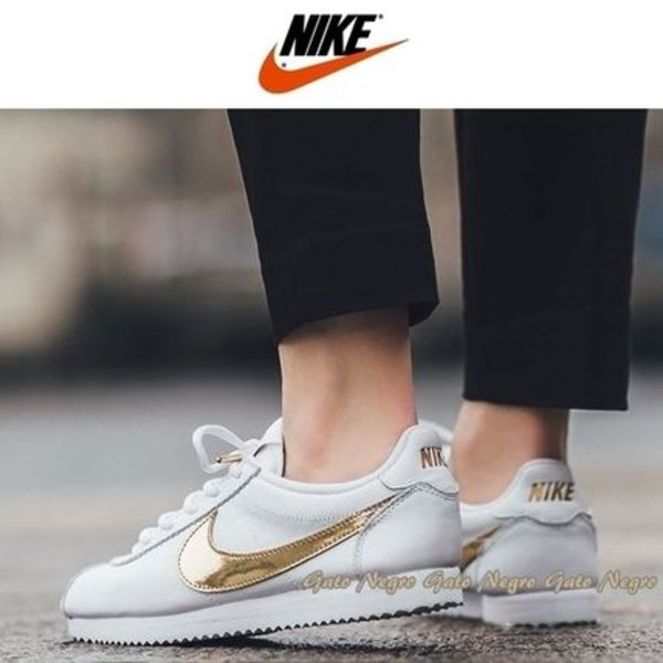 ☆⌒*正規品★Nike GS Cortez Leather【White x Metallic Gold】