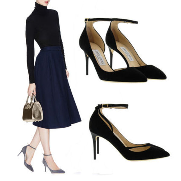 16SS★Jimmy Choo Lucy 85 パンプス/ BLK【関税./送料込】