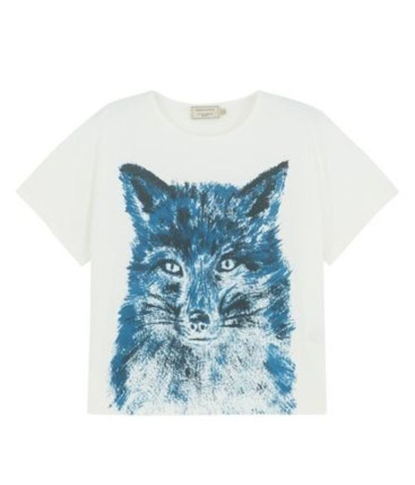 即配★MAISON KITSUNE 16SS SQUARE TEE FOX BRUSH KWM-1606 残少