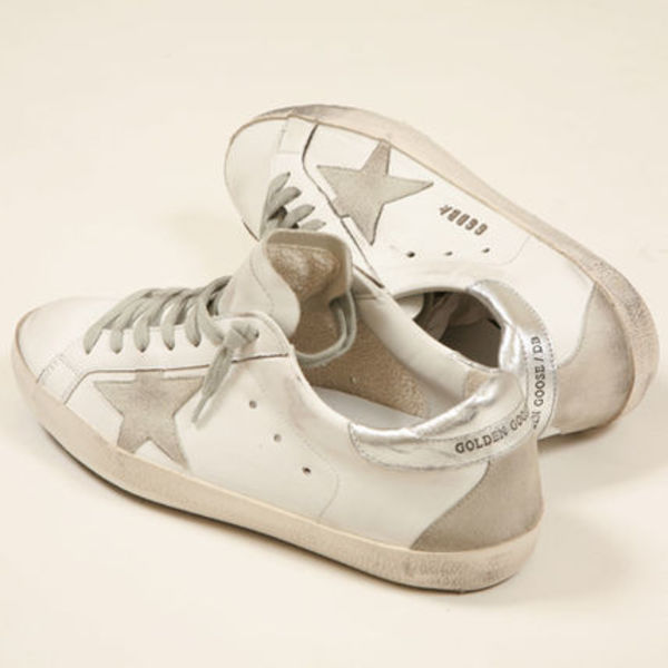 Golden Goose SUPERSTAR スニーカー ヴィンテージ WHITE SILVER