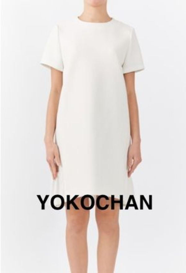 YOKOCHAN♡オールホワイト Side Gathered Dress