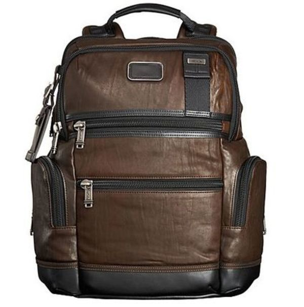 【送料込】Tumi ★ 92681 Alpha Bravo Knox Leather Backpack