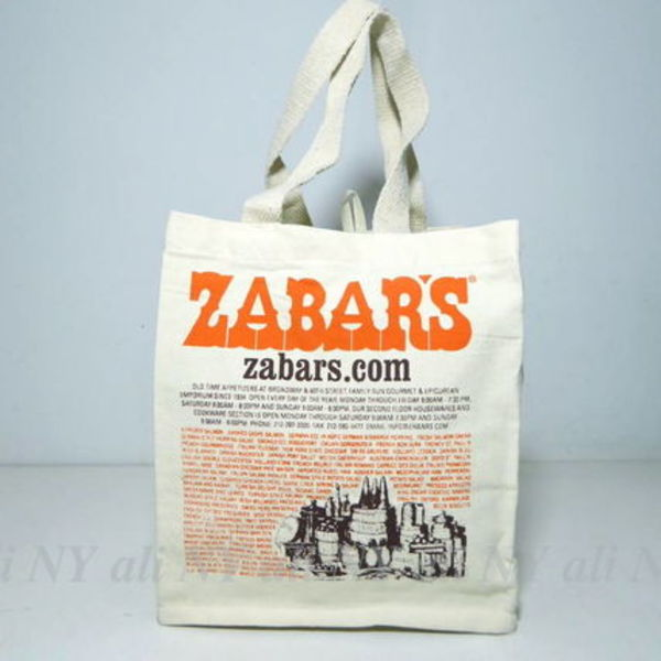 セレブ愛用★送料込み★ZABAR'S Canvas Imprinted Tote Bag (S)